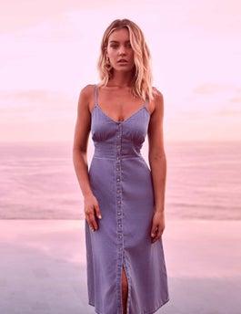 Gia Denim Midi Dress by Forever New