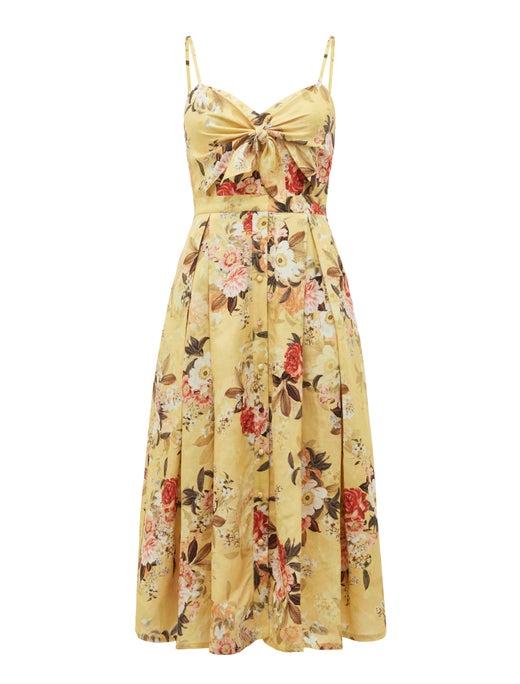 Mia Tie Front Button Through Dress