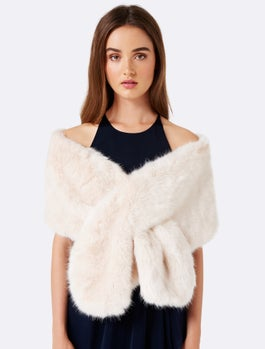 Laura Faux Fur Wrap by Forever New