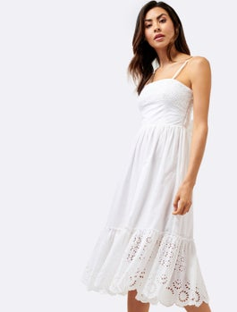 Sierra Broderie Cotton Dress by Forever New