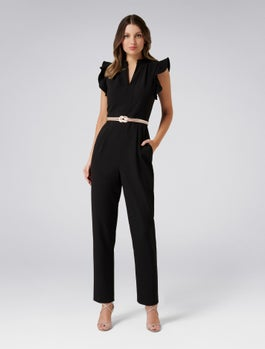 Cora Frill Sleeve Jumpsuit by Forever New
