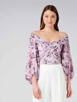Shay Shawl Off Shoulder Top by Forever New