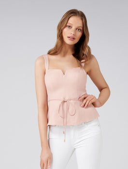 Jessie Linen Bustier by Forever New