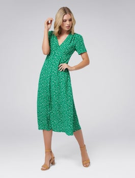 Wendy Ditsy Midi Dress by Forever New