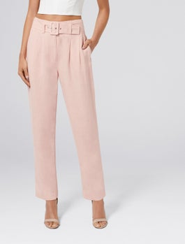 Tali High Waist Belted Pants by Forever New