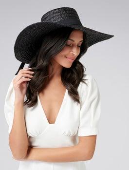 Ella Round Crown Floppy Hat by Forever New