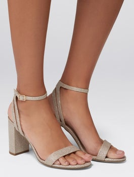 Natalia Mid Block Heeled Sandals by Forever New