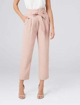 Natalia Tie Waist Tapered Pants by Forever New