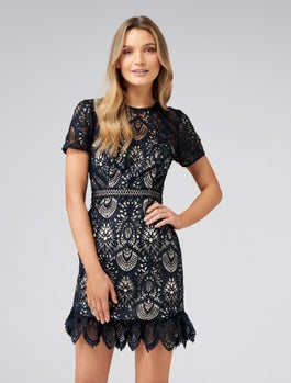 Austin Fit And Flare Lace Dress by Forever New