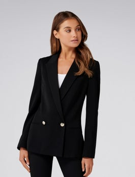 Dora Double Breasted Blazer by Forever New