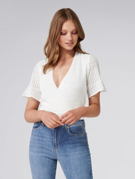 Indi Wrap Stitch Top by Forever New