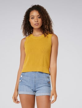 Ainsly Crop Knit Tank by Forever New