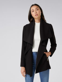 Lyla Wrap Coat by Forever New