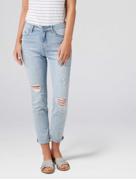 Emmy Mid Rise Girlfriend Jeans by Forever New