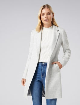 Maddison Edge To Edge Coat by Forever New