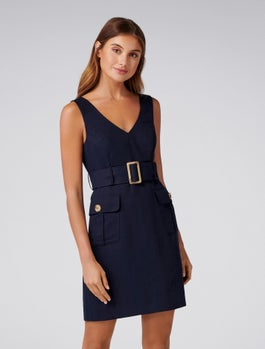 Sasha Petite Belted Safari Dress by Forever New