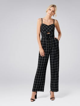 Denver Check Jumpsuit by Forever New
