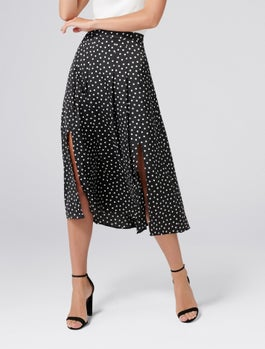 Nadia Pleated Spot Skirt by Forever New