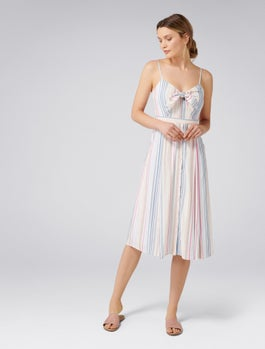Mya Tie Front Button Through Dress by Forever New