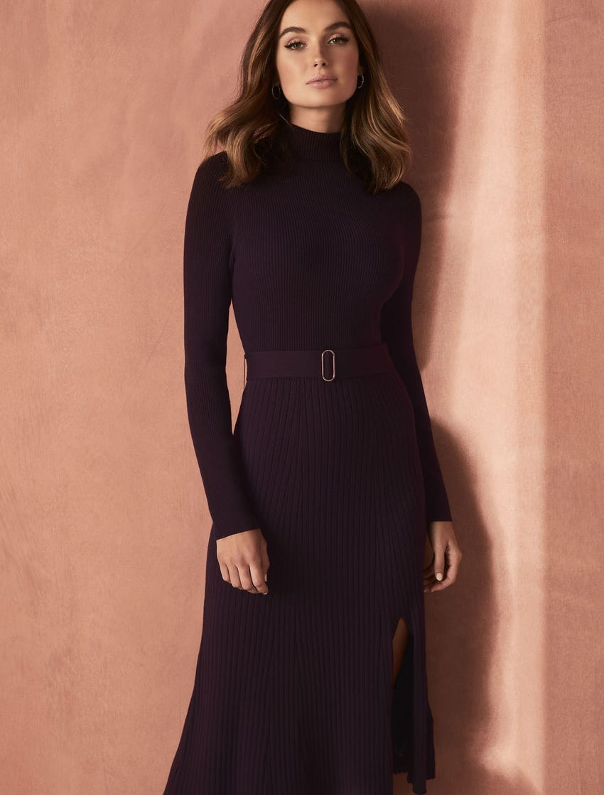 Forever New Stephanie Rib Midi Knit Dress | Stay at Home Mum