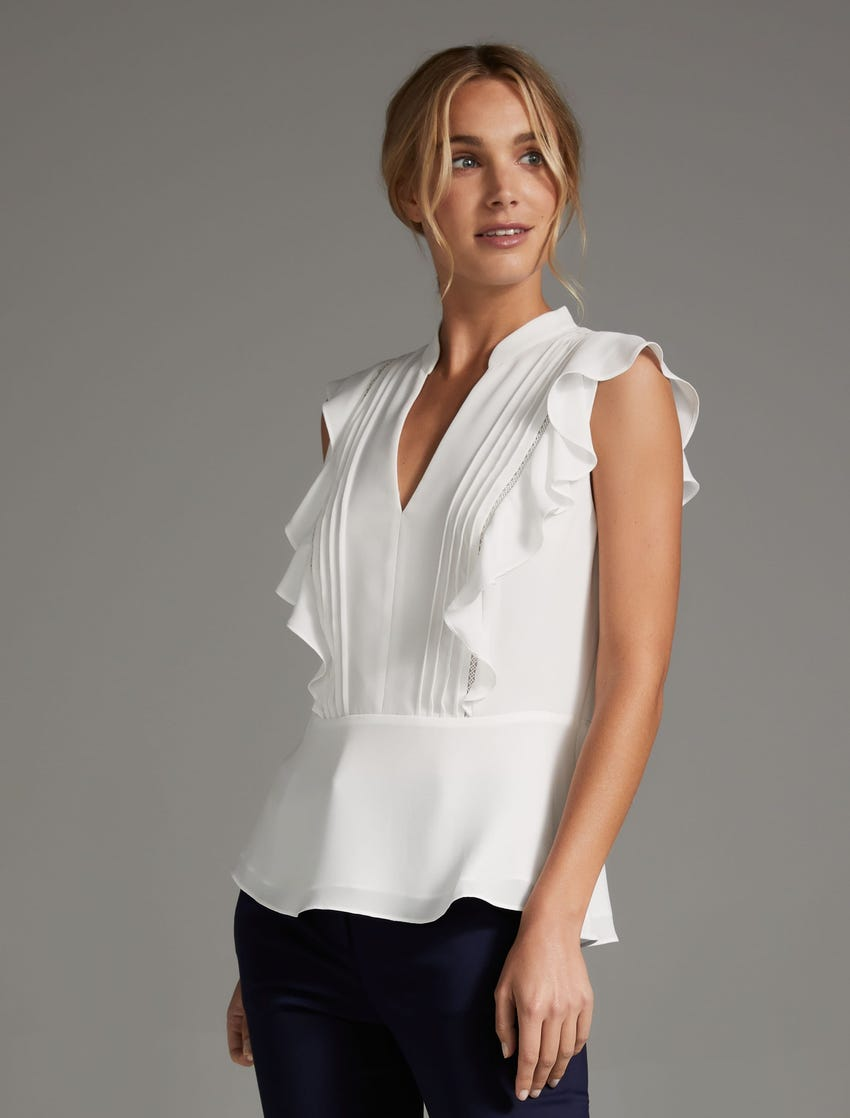 Forever New Stacey Pintuck Blouse | Stay at Home Mum