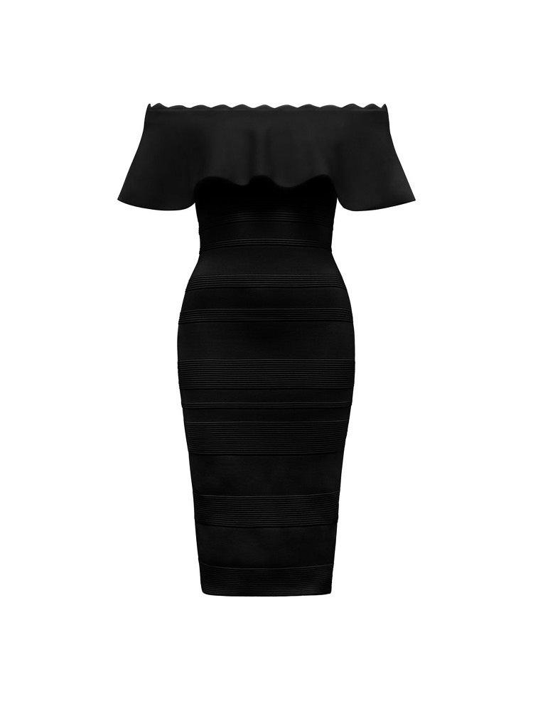 Kara Ruffle Bardot Dress