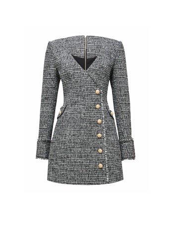 Katerina Boucle Blazer Dress