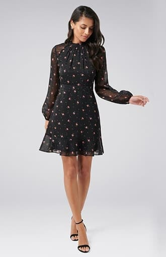 <b>Daisy</b><br />Printed Skater Dress