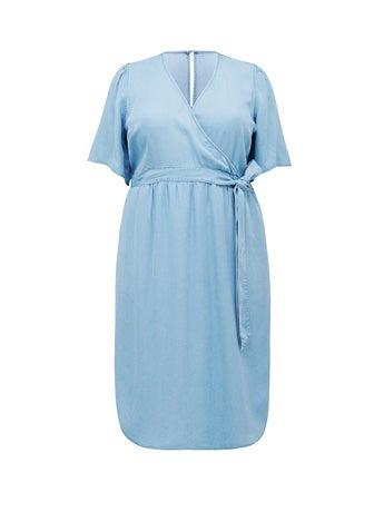 Cassie Curve Wrap Over Midi Dress