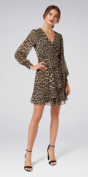 Hayley Animal<br />Wrap Mini Dress