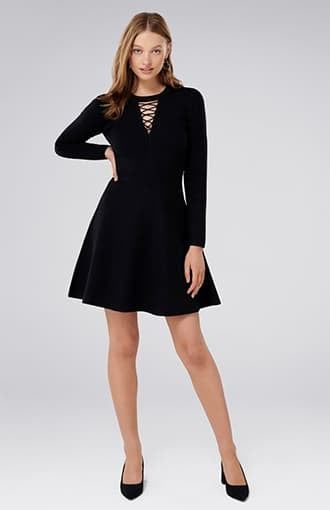 <b>Danielle</b><br />Lace-Up Front Knit Dress