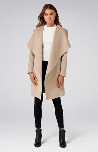 <b>Megan</b><br />Felled Seam Wrap Coat