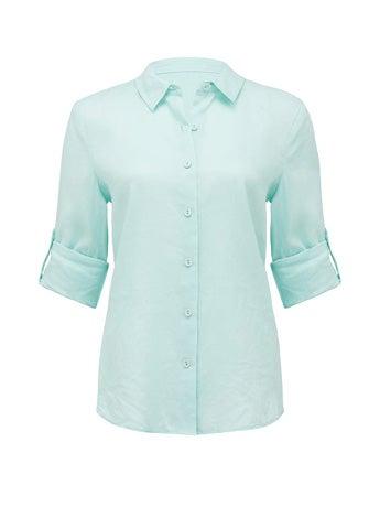 Viviana Long-Sleeve Linen Shirt