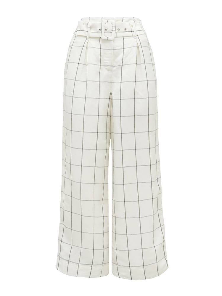 Hartz Co-ord Linen Blend Belted Pants
