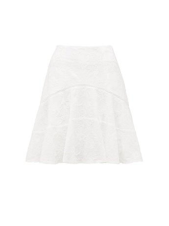 Emma Embroidered Fit and Flare Co-ord Skirt