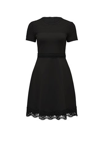Darcey Lace Double Tier Ponte Dress