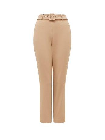 Emelia High-Waist Belted Pants
