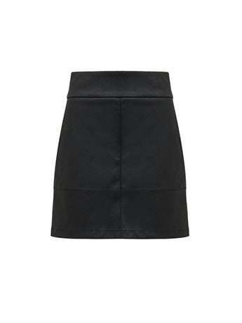 Masey A-line PU Mini Skirt