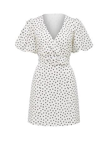 Maggie Linen Wrap Dress