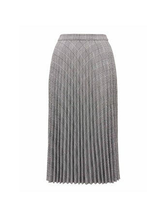 Adelyn Check Pleat Skirt