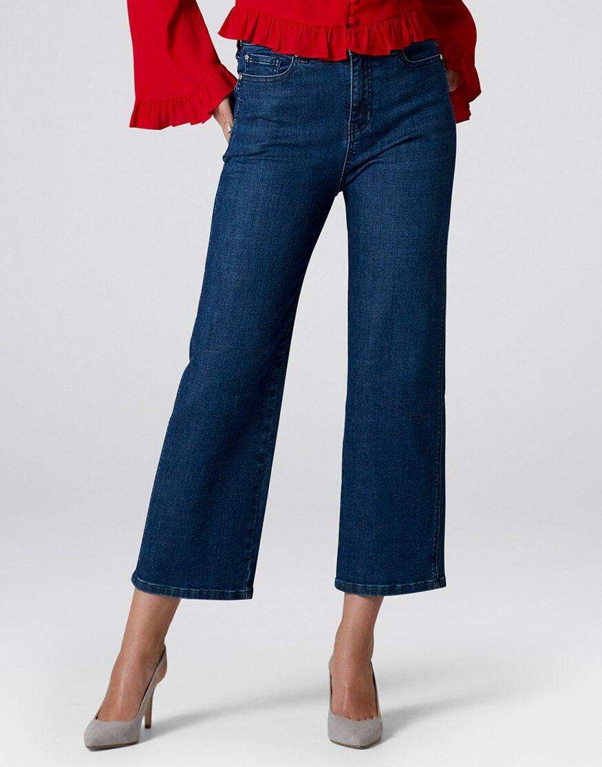 Lottie Cropped WIde Leg Jeans