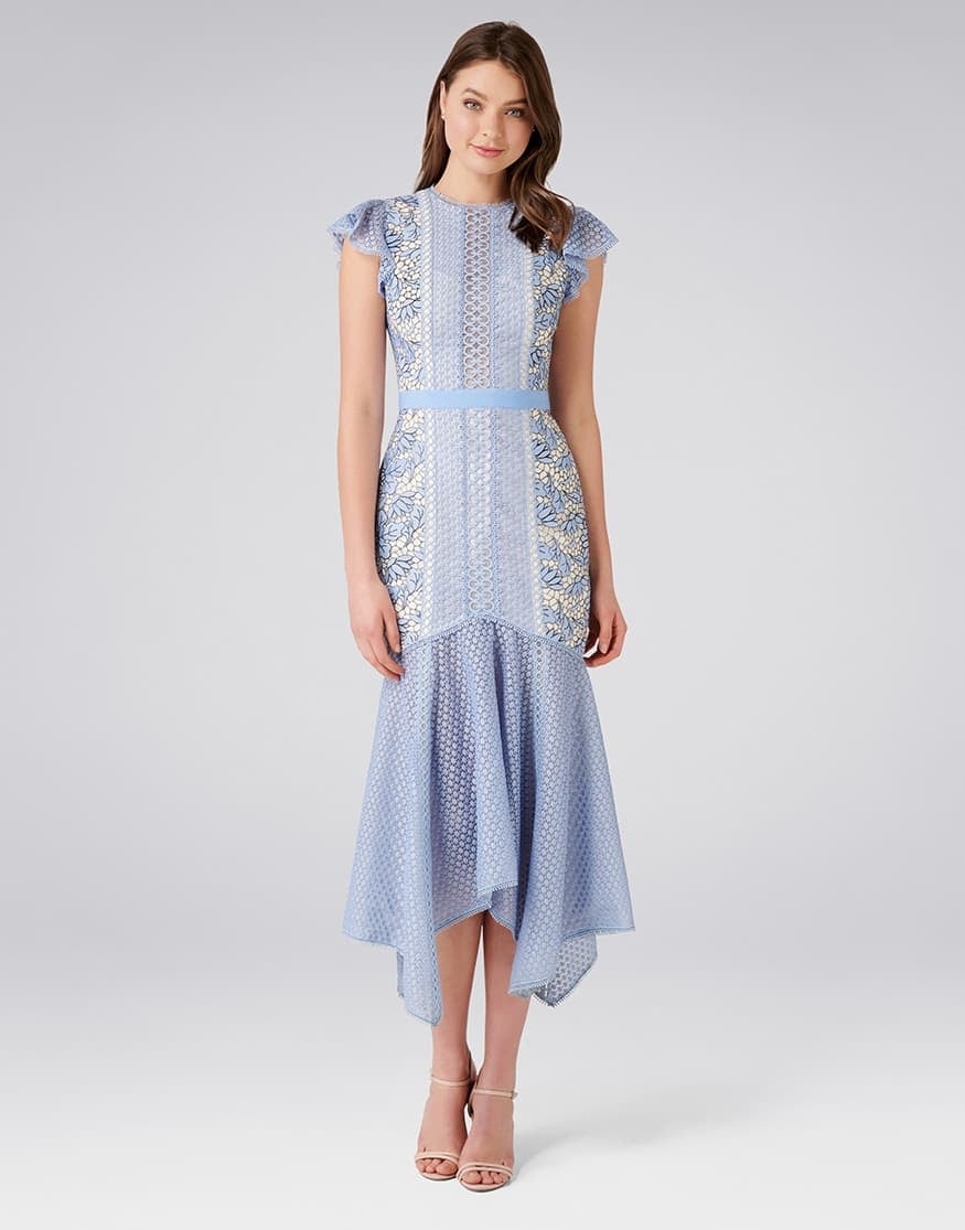 Elodie Lace Fishtail Dress