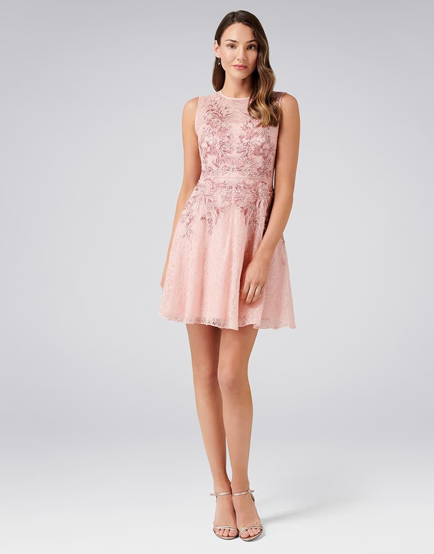 Nikita Embroidered Lace Prom Dress