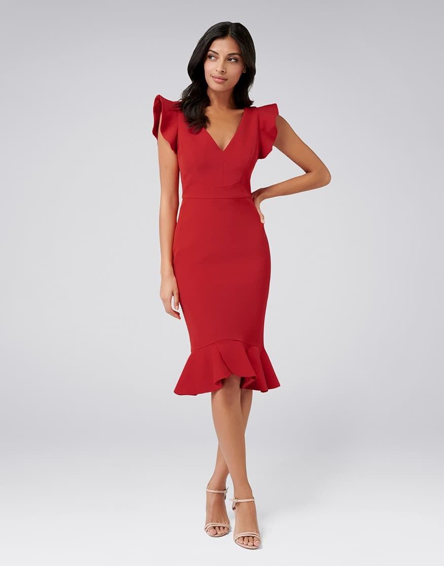 Montie Frill Sleeve Dress