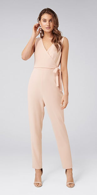 Savannah Wrap<br />Tie Jumpsuit
