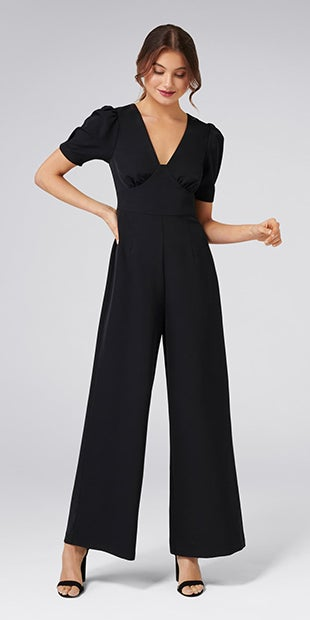 Tulip Short<br />Sleeve Jumpsuit