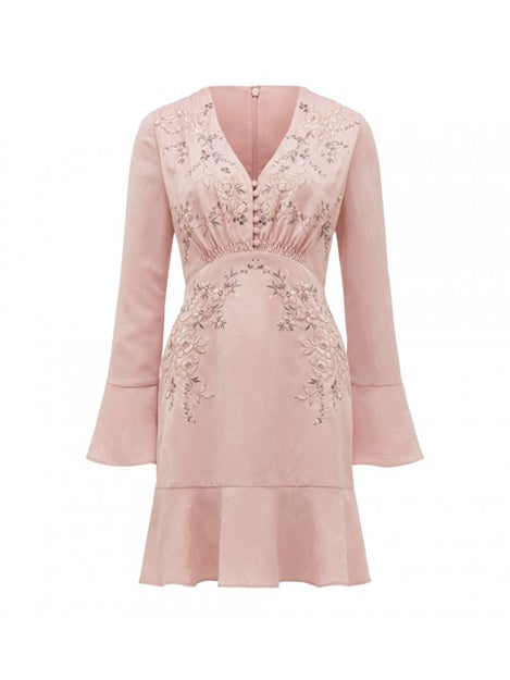 Louise Embroidered Jacquard Dress