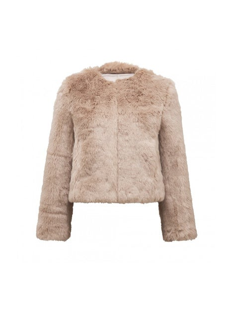 Angel Cropped Fur Coat