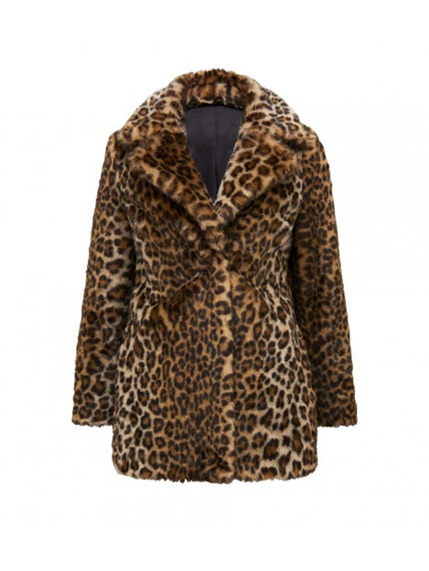 Emerson Leopard Faux Fur Coat
