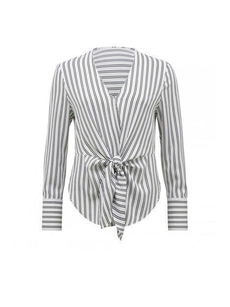 Deborah Stripe Tie Front Blouse